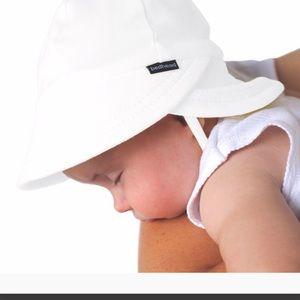 NWT Bedhead Legionnaire Sun Hat Strap White 0-3 M